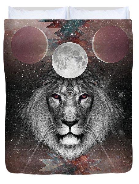 Third Eye Lion Vision Duvet Cover by Lori Menna