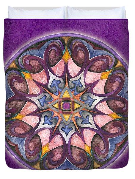 Third Eye Mandala Duvet Cover