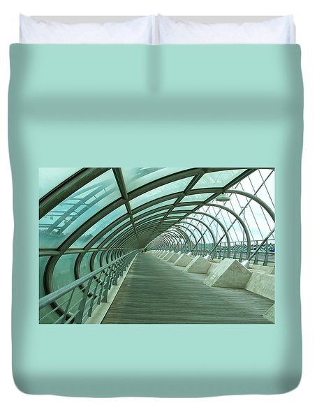 Third Millenium Bridge, Zaragoza, Spain Duvet Cover