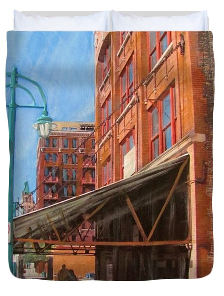 Third Ward - Broadway Awning Duvet Cover by Anita Burgermeister