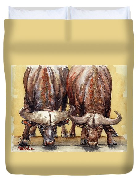 Thirsty Buffalo  Duvet Cover