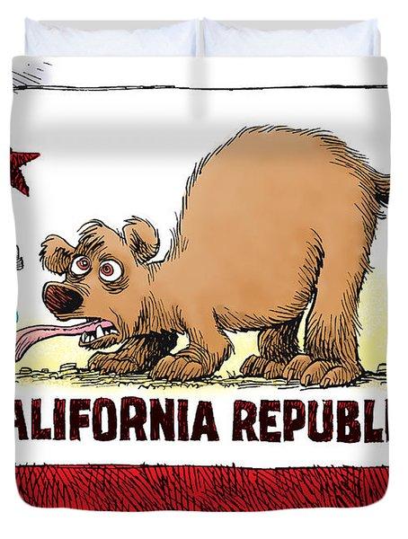 Thirsty California Flag Duvet Cover