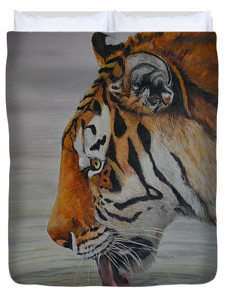 Thirsty Duvet Cover by Charlotte Yealey