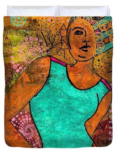 This Artist Speaks Truth Duvet Cover by Angela L Walker