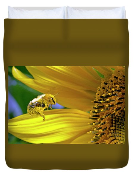 This Bee Needs A Bath Duvet Cover