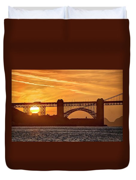 Duvet Cover featuring the photograph This Bridge Never Gets Old by Peter Thoeny