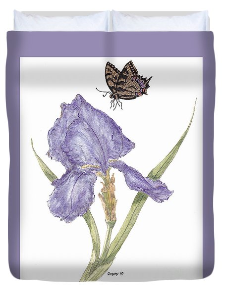 This Great Purple Butterfly Duvet Cover by Stanza Widen