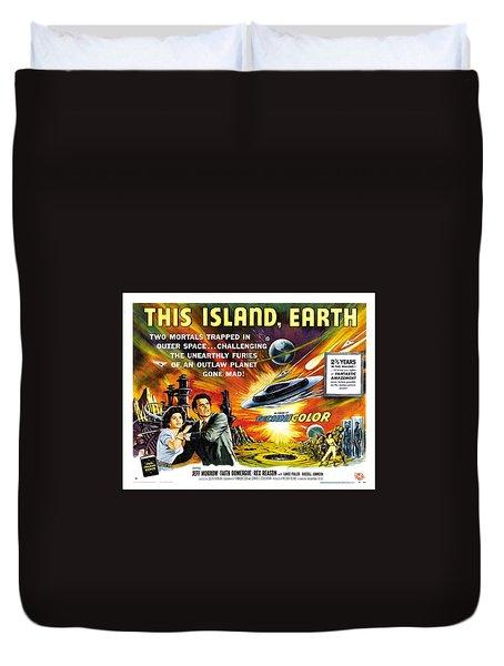This Island Earth Science Fiction Classic Movie Duvet Cover