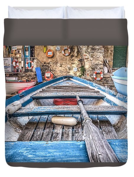 Duvet Cover featuring the photograph This Old Boat by Brent Durken