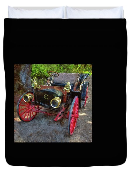 Duvet Cover featuring the photograph This Old Car by Thom Zehrfeld