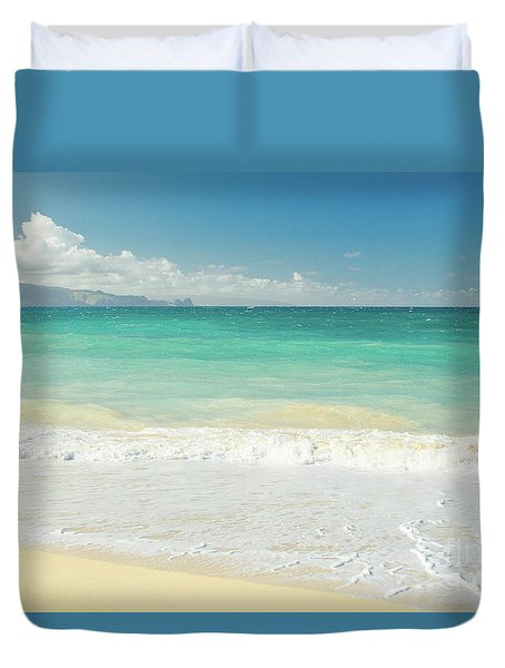 Duvet Cover featuring the photograph This Paradise Life by Sharon Mau