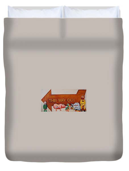 This Way Out Duvet Cover by Jean Cormier