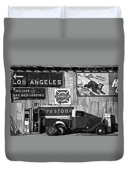 This Way To L.a. Duvet Cover