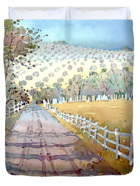 This Way To The Vineyard Duvet Cover