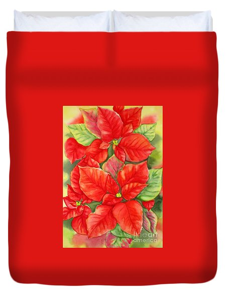 This Year's Poinsettia 1 Duvet Cover