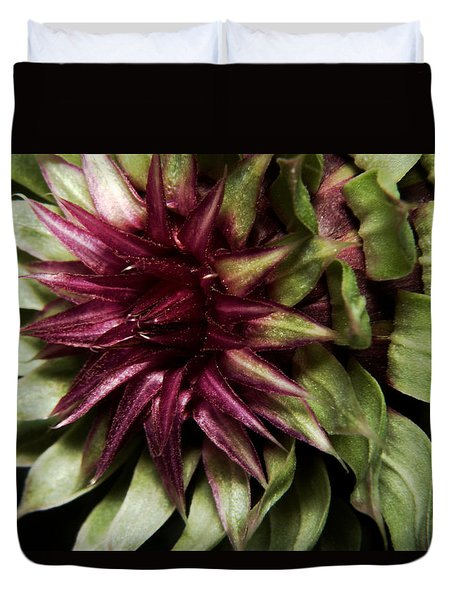 Duvet Cover featuring the photograph Thistle 01 by Karen Musick