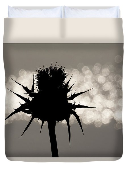 Thistle Silhouette - 365-11 Duvet Cover by Inge Riis McDonald
