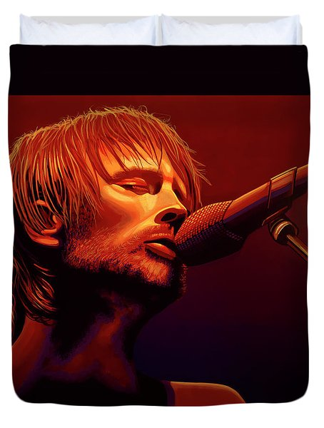 Thom Yorke Of Radiohead Duvet Cover