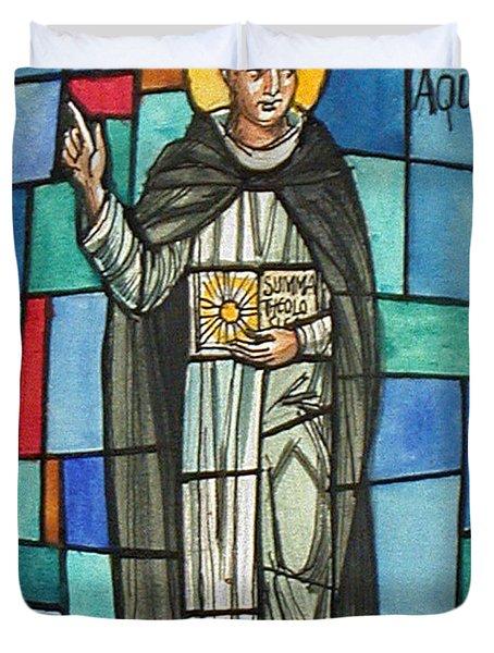 Thomas Aquinas Italian Philosopher Duvet Cover by Photo Researchers
