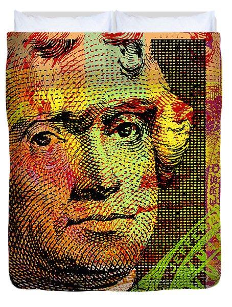 Thomas Jefferson - $2 Bill Duvet Cover