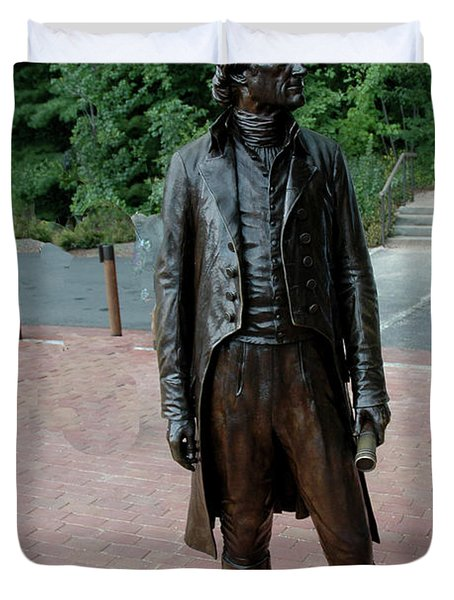 Thomas Jefferson At Monticello Duvet Cover