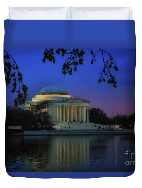 Thomas Jefferson Memorial Sunset Duvet Cover