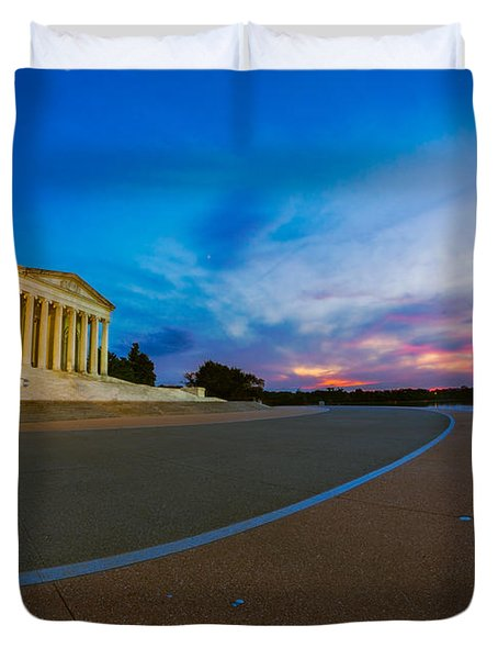 Thomas Jefferson Memorial Twilight Duvet Cover