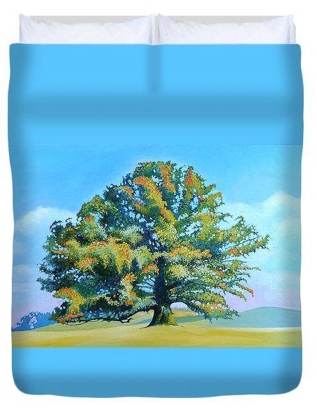 Thomas Jefferson's White Oak Tree On The Way To James Madison's For Afternoon Tea Duvet Cover