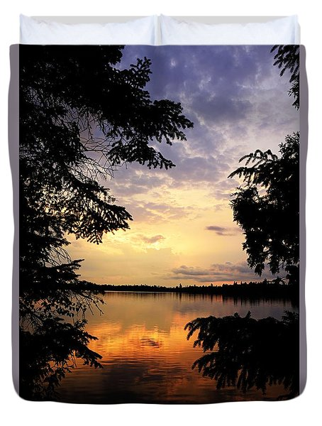 Duvet Cover featuring the photograph Thomas Lake Sunset 2 by Larry Ricker