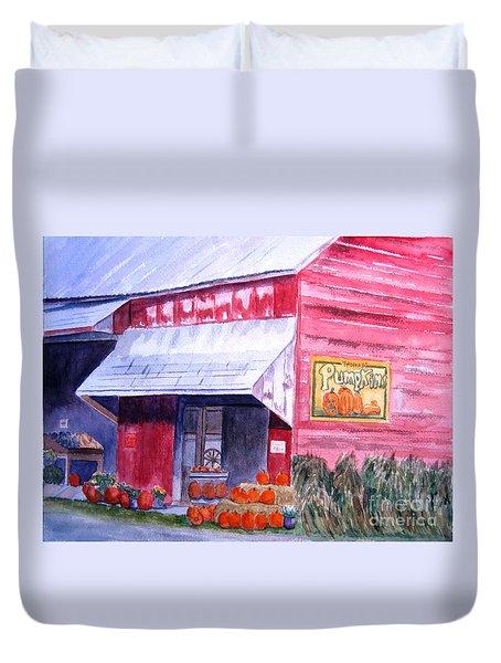 Thomas Market Duvet Cover by Lynne Reichhart