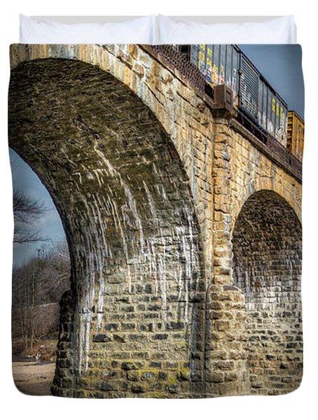 Thomas Viaduct Panoramic Duvet Cover
