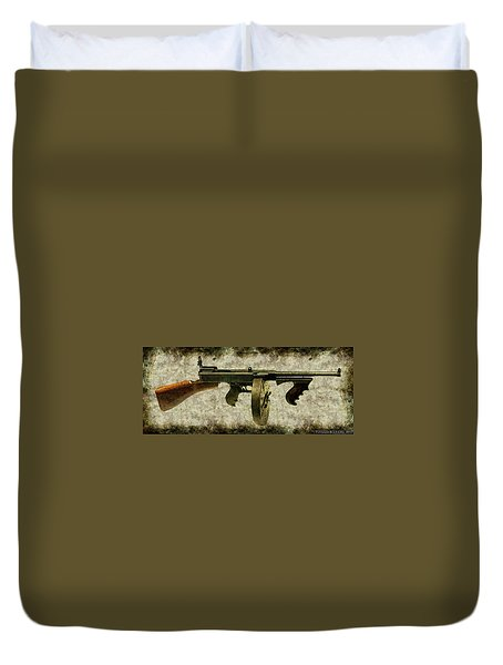 Thompson Submachine Gun 1921 Duvet Cover