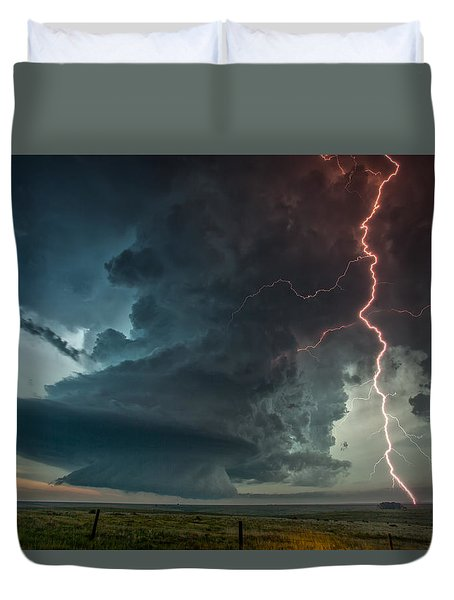 Duvet Cover featuring the photograph Thor Speaks by James Menzies