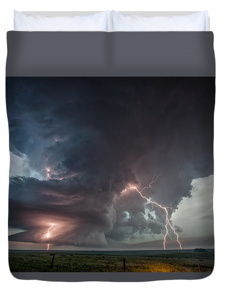 Duvet Cover featuring the photograph Thor Strikes Again by James Menzies