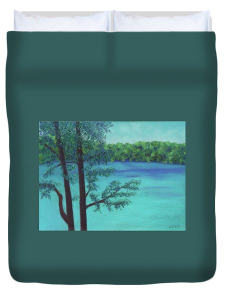 Thoreau's View Duvet Cover