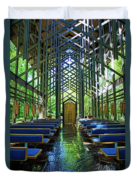 Thorncrown Chapel Serenity Duvet Cover