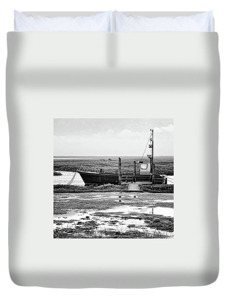 Thornham Harbour, North Norfolk Duvet Cover by John Edwards