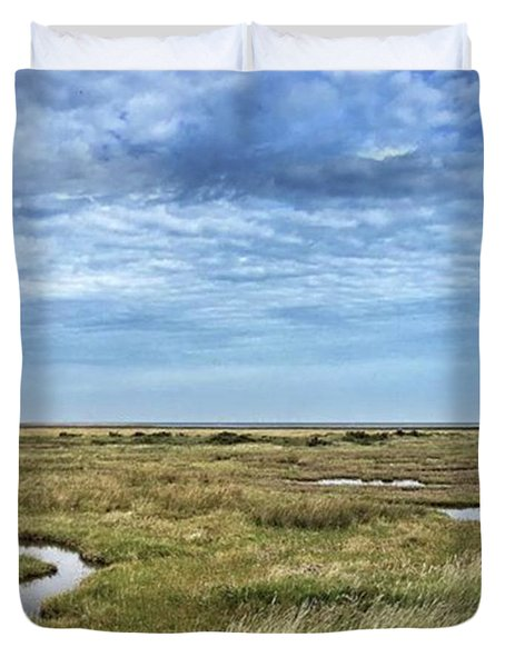 Thornham Marshes, Norfolk Duvet Cover by John Edwards