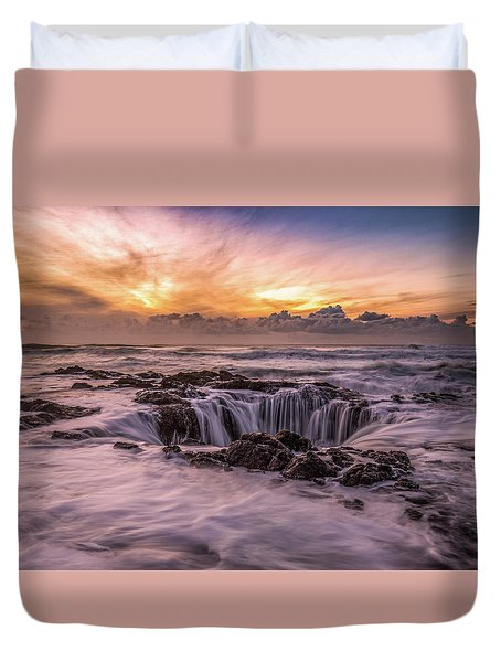 Thor's Well Duvet Cover