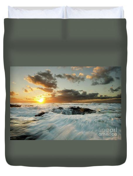 Thors Well Cape Perpetua 1 Duvet Cover by Bob Christopher
