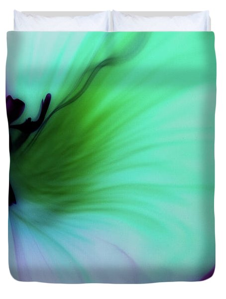 Though The Silence Duvet Cover