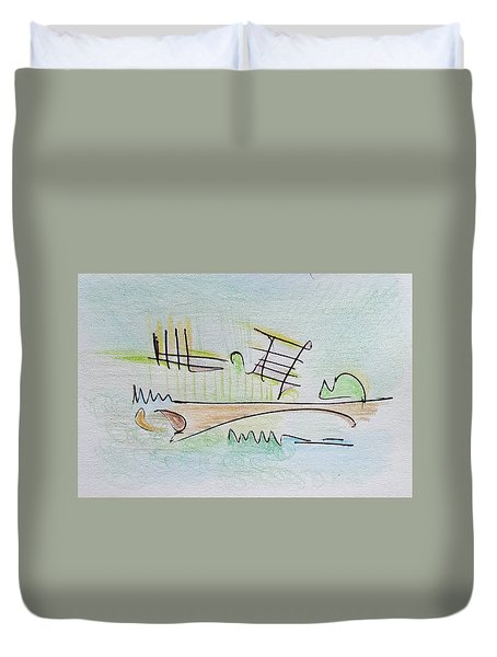 Thought Pad Series Page 1 Duvet Cover