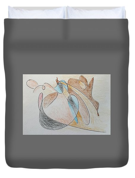 Thought Pad Series Page 7 Duvet Cover