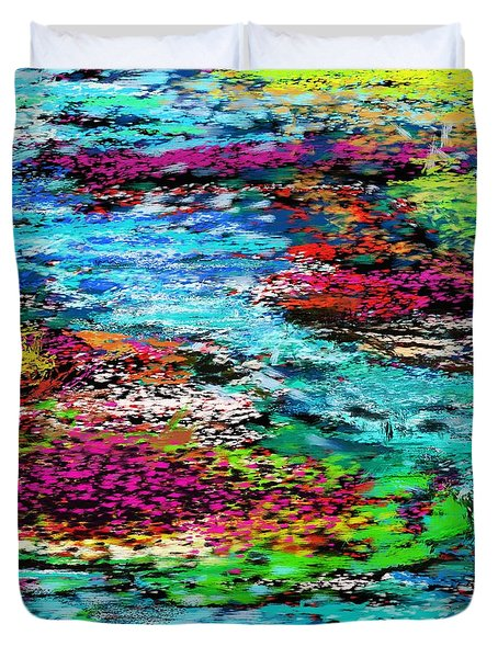 Thought Upon A Stream Duvet Cover
