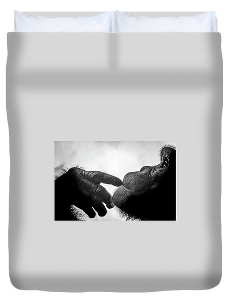 Thoughtful Chimpanzee Duvet Cover