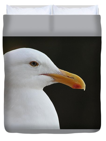 Thoughtful Gull Duvet Cover