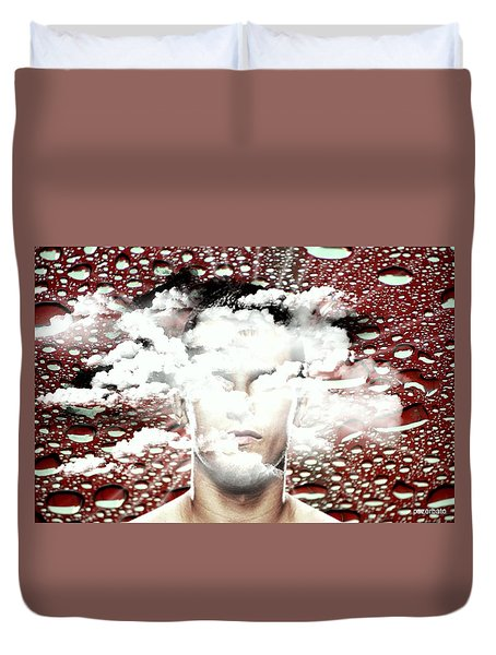 Thoughts Are Like Clouds Passing Through The Sky Duvet Cover