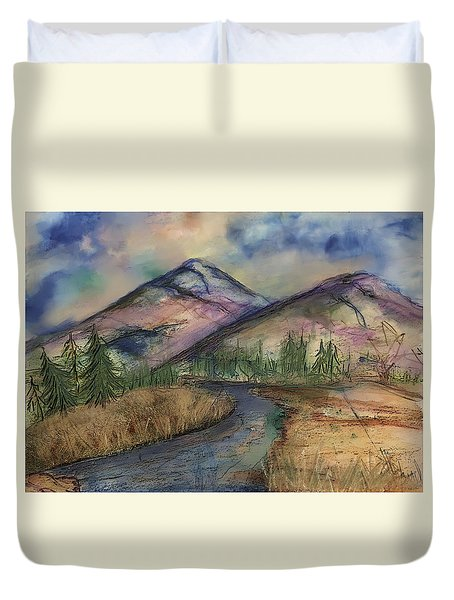Thoughts Of Glacier Duvet Cover