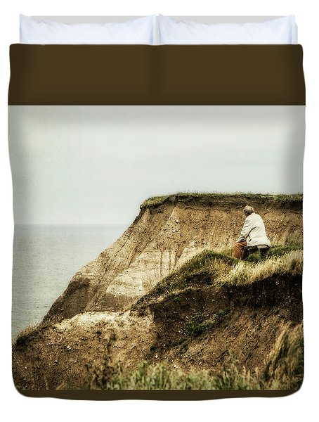 Duvet Cover featuring the photograph Thoughts Travel Far by Odd Jeppesen