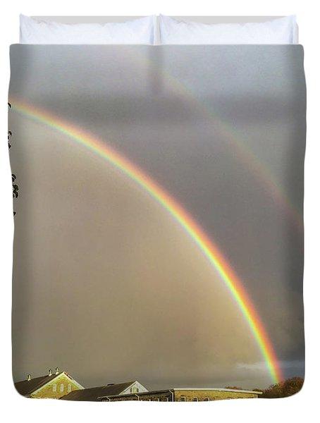 Thread City Double Rainbow  Duvet Cover